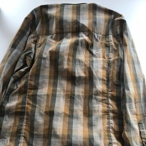 Arc'teryx Shirts - Tan and Olive Checkered Arc'Teryx Long Sleeve